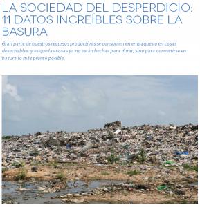 La sociedad del desperdicio
