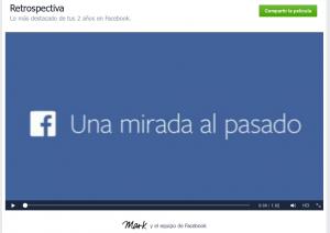 Facebook - Video retrospectiva