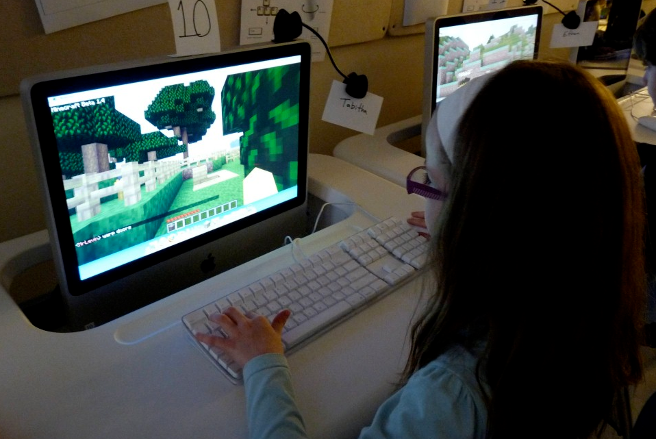 Minecraft in classroom