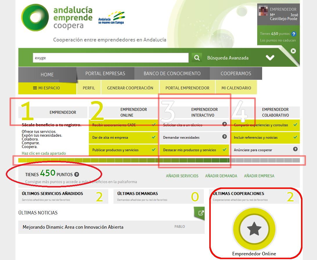 Web Andalucia Emprende