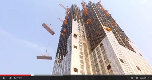 Un rascacielos en 19 dias