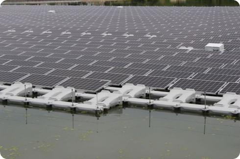 Granja solar flotante en Japón