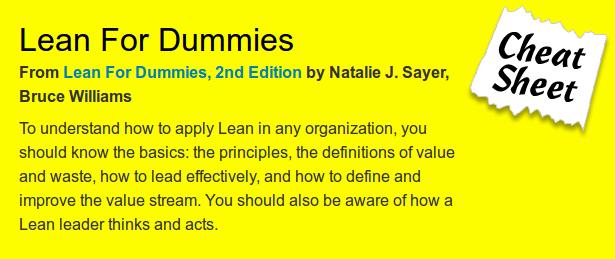 Lean for dummies