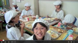 Almuerzo en colegio japonés