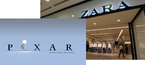 Pixar y Zara