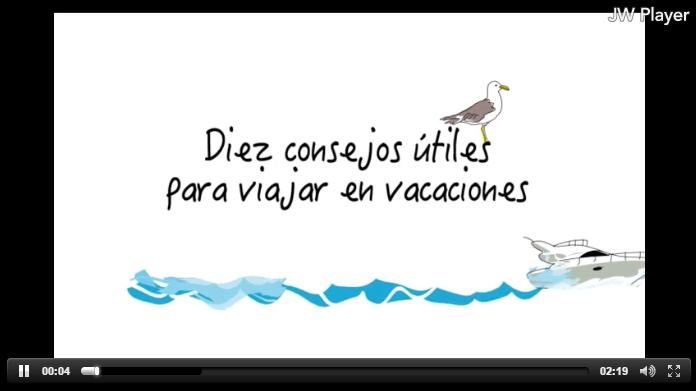 Consejos para vacaciones