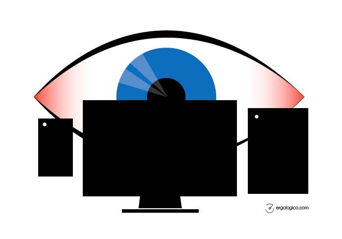 ¿Tienes la pantalla a la distancia correcta?