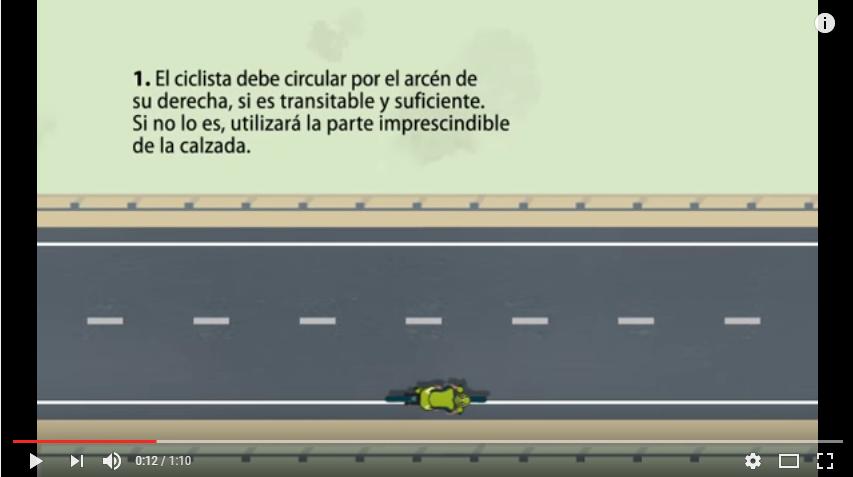 Adelantamiento a ciclista