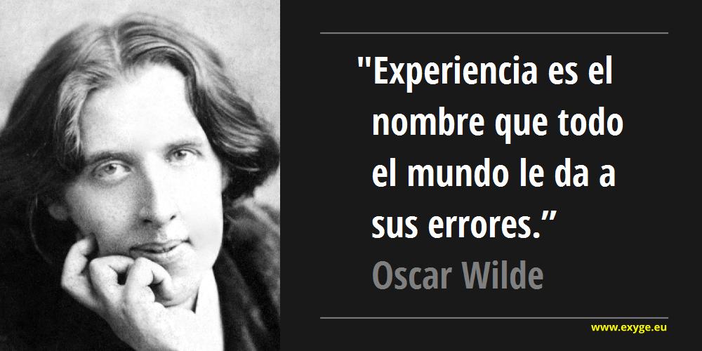 Cita Óscar Wilde
