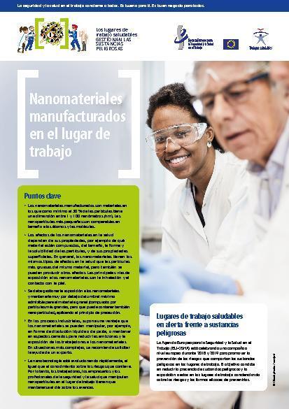 Nanomateriales manufacturados en el lugar de trabajo