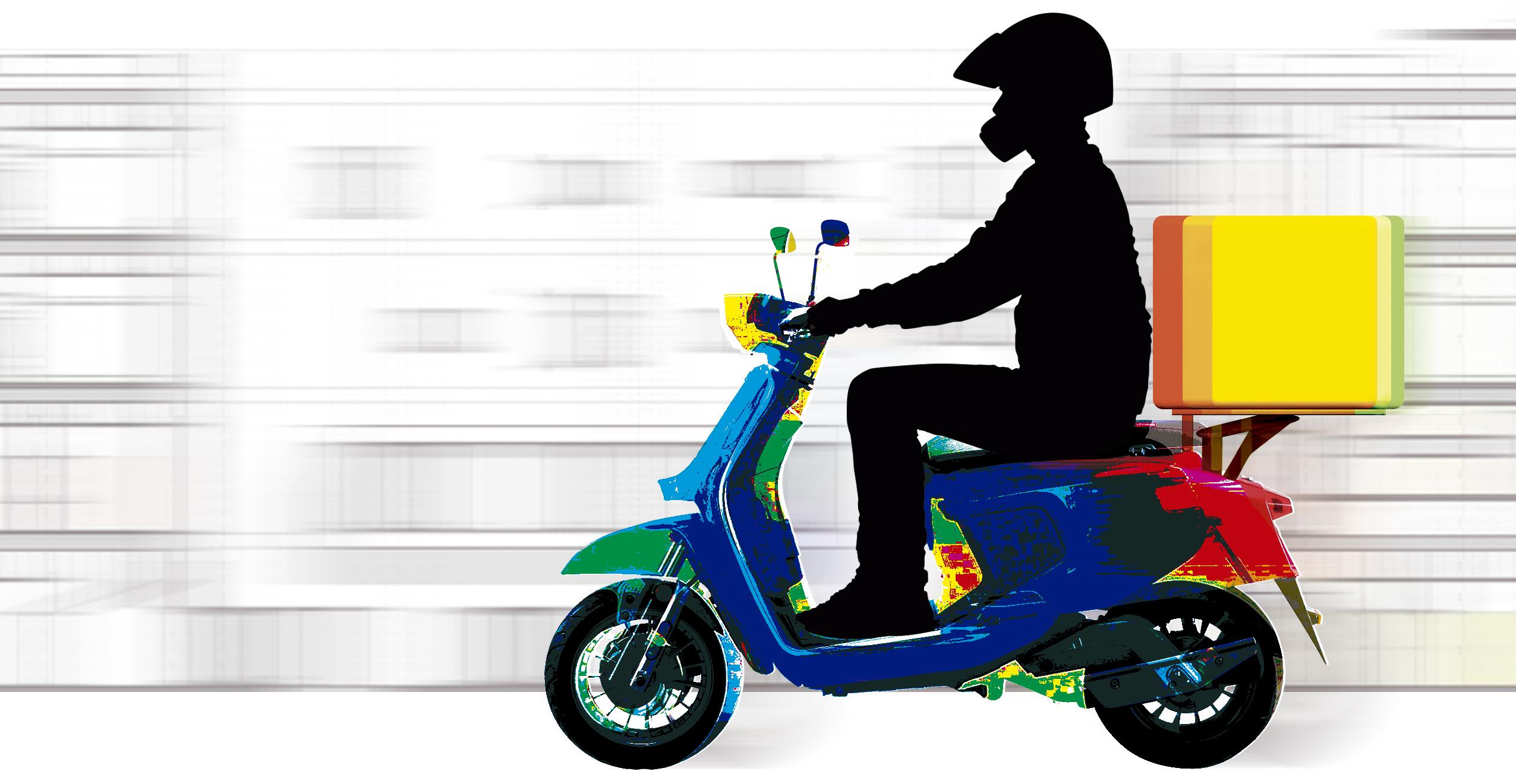La precariedad sobre una scooter