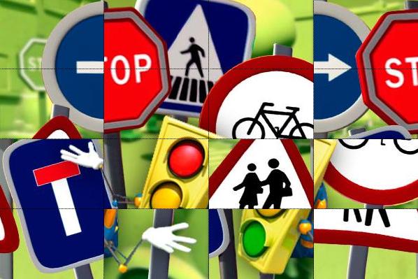 Puzzle de seguridad vial