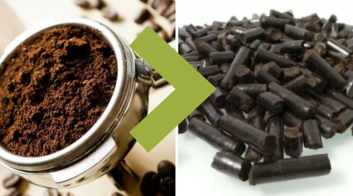Reciclando posos de café