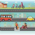 Seguridad vial camino del colegio