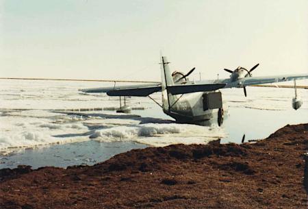 Avión en la nieve